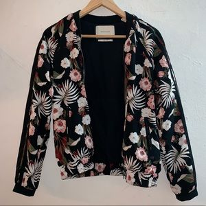 Scotch and soda floral bomber jacket size 1 or XS